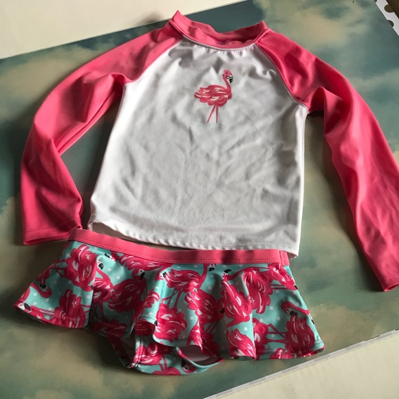 9a5c97e056dc31 Gymboree Other - Flamingo print long sleeve two piece swimsuit